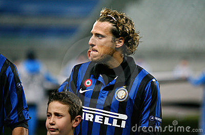 Inter Milano s Diego Forlan Editorial Image