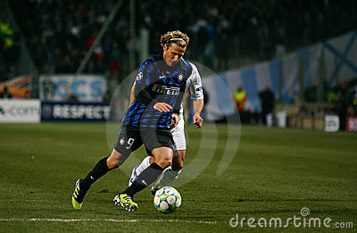 Inter Milano s Diego Forlan Editorial Photography