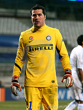 Inter Milano s Julio Cesar Editorial Photo