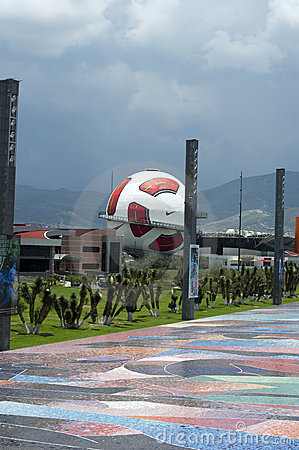 Interactive museum of Football in Pachuca Mx. Editorial Photography