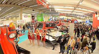 Interalpin 2011 stand Kässbohrer PistenBully Editorial Stock Image