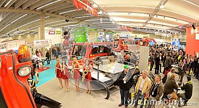 Interalpin 2011 stand Kässbohrer PistenBully Editorial Stock Image