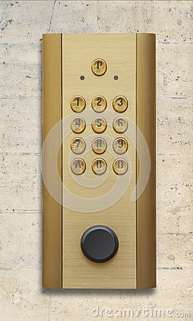 Intercom doorbell panel