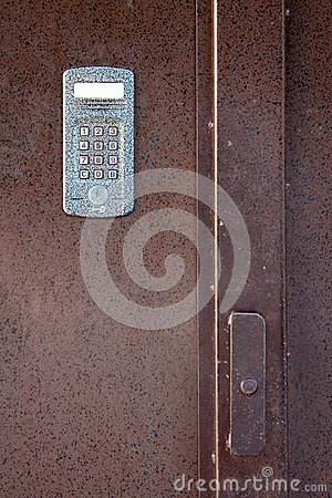 Intercom in steel door