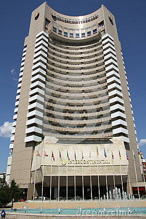 InterContinental hotel in Bucharest (Romania) Editorial Stock Photo