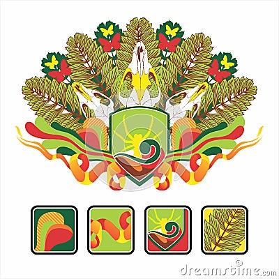 Interesse o ícone e a composição do crânio animal