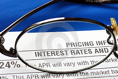Interest rate in a credit card disclosure
