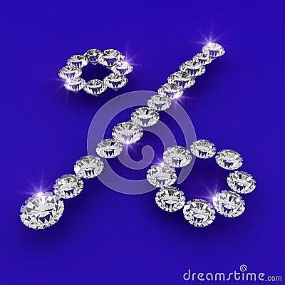 Interest rate shape diamond art illustration
