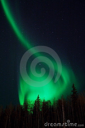 Interesting shape of northern lights