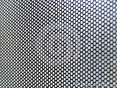 Interesting thin metallic perforated surface
