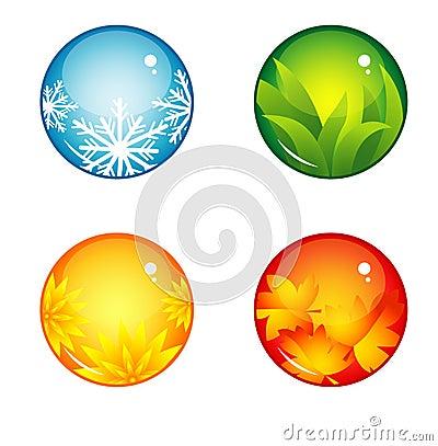Free Interface Buttons Season Royalty Free Stock Photos - 43979468