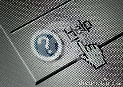 interface computer help button