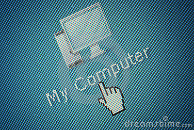 Interface computer Icon and a hand mouse cursor
