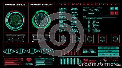 Interfaz futurista   HUD   Pantalla de Digitaces