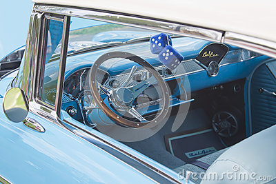 Interior of 1955 Chevrolet Bel Air Editorial Photography