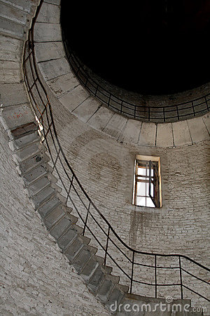 Interior of abandoned tower