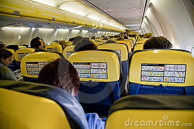 Interior  airplane Editorial Photo