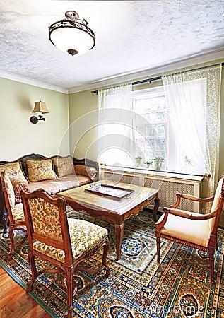 Interior with antique furniture