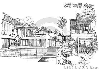 Oriental interior design on interior architecture construction