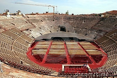 Interior of the Arena in Verona, Italy
