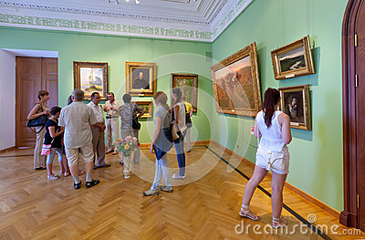 Interior of Art Museum in Yaroslavl. Russia Editorial Stock Photo