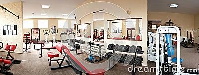 Interior av den moderna idrottshallen