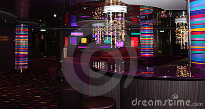 Interior bar & disco  club
