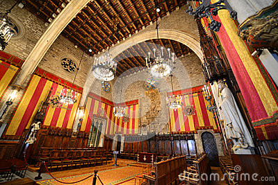Interior of Barcelona s Town Hall, Barcelona, Spain