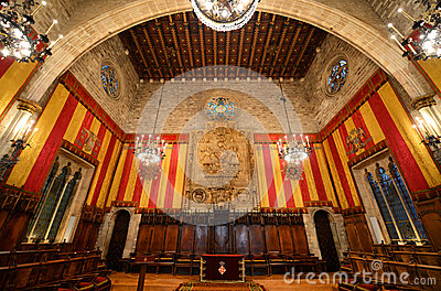 Interior of Barcelona s Town Hall, Barcelona, Spain