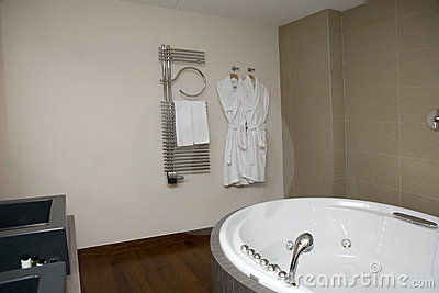 Interior of bathroom with bath