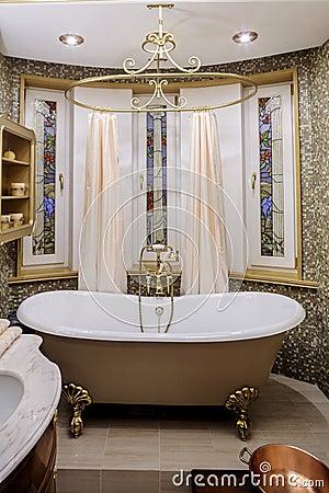 Classic Bathroom With Old Bathtub Stock Photography - Image: 14743942