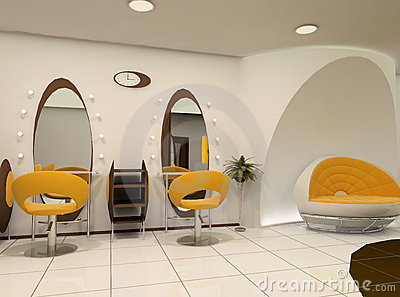 Interior of beauty salon stock photos image 16434993 for Administrar un salon de belleza