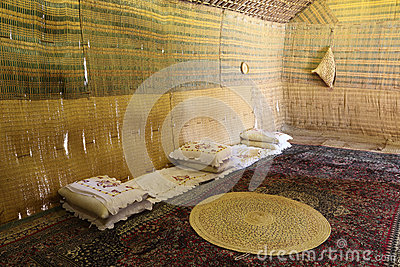 Interior of the Bedouin Tent