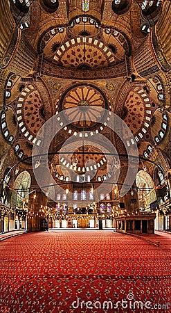 Interior of the Blue Mosque (Sultanahmet Mosque)