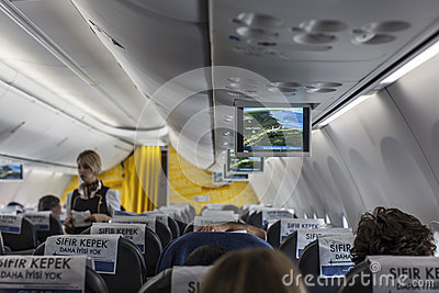 Interior of a boeing Editorial Photography