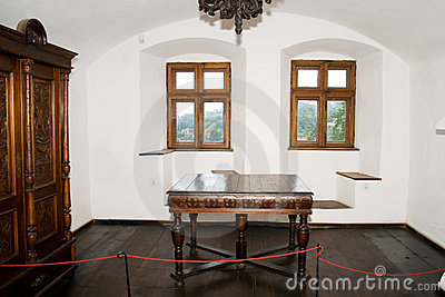 Interior of bran castle