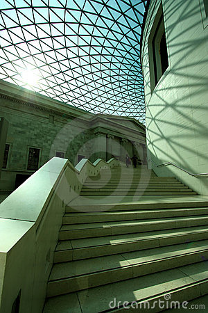 Interior of British Museum Editorial Stock Photo