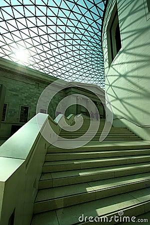 Interior of British Museum Editorial Stock Photo