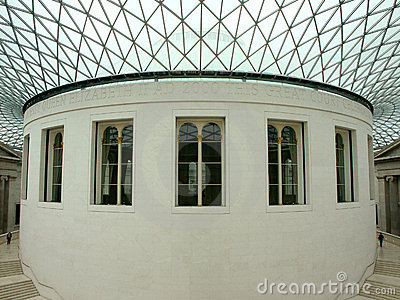 Interior of the British Museum Editorial Stock Image