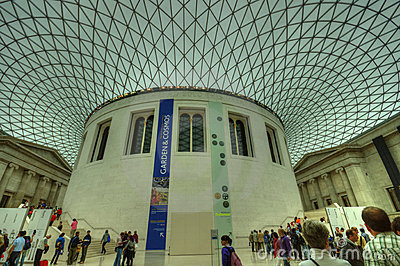 Interior of the British Museum, London Editorial Stock Image