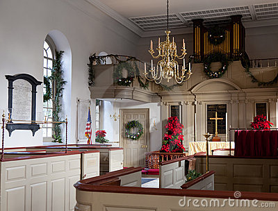 Interior of Bruton Parish Church