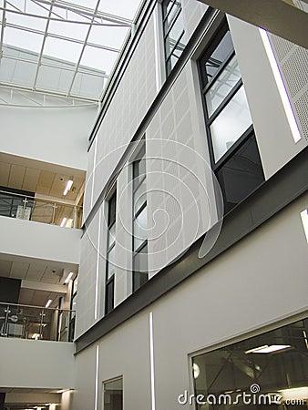 Interior building atrium