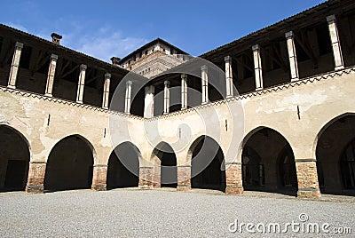 Interior Castle Pandino, Italy