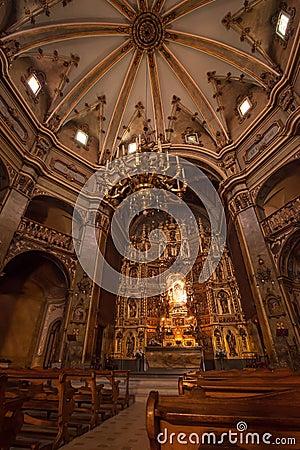 Interior of catalan church sanctuary