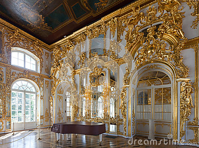Interior of Catherine Palace Editorial Photography