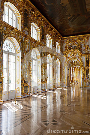 Interior of Catherine Palace Editorial Stock Photo