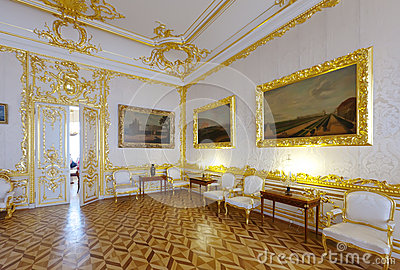 : Interior of Catherine Palace Editorial Stock Image