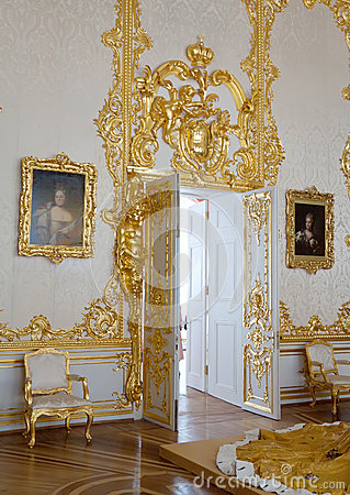Interior of Catherine Palace Editorial Stock Image