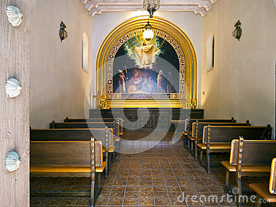 Interior of a chapel in Sedona, Arizona