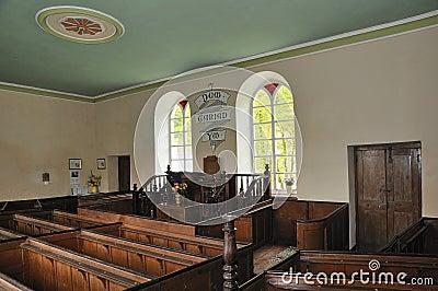 Interior of Chapel Soar y Mynydd